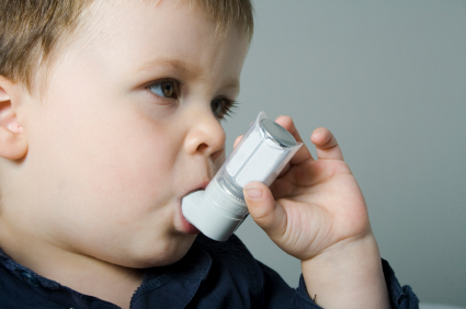 This baby doesn't even have the ability to use an inhaler.